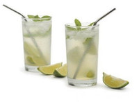 reusable straws - Stainless Steel Straw bend Reusable drinking straw beer and fruit juice straw DHL