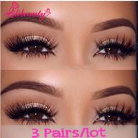 Wholesale Natural D Real Mink False Eye Lashes Pairs Mink Individual Fake Eyelashes Extensions For Makeup