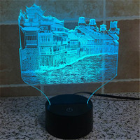 architecture history - Acrylic USB Home Decoration Bulbing LED Lamp China Phoenix City History Architecture Night Light