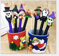 Wholesale 2016 new Halloween gifts gifts Creative personality ball point pen pen pen witch pumpkins ls students love