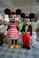 Compra Mickey mouse mascot costume-Traje de la mascota de Mickey Mouse de la mascota de Mickey Mouse del hijo del hijo de la alta calidad de la venta directa de la fábrica que envía libremente