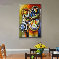artist picasso paintings - 100 Hand painted oil painting on canvas Famous artist Picasso abstract painting Mirror girl art picture decoration paintings