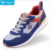 Wholesale milvian outdoor sport new autumn and winter two colors women s shoes contrast panel imitation suede athleisure shoes running shoes