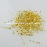 bead pin designs - 19574 mm Design DIY Jewelry Finding Gold Plate Bead Head Pins Needles