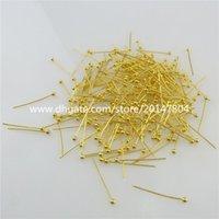 bead head pin - 19574 mm Design DIY Jewelry Finding Gold Plate Bead Head Pins Needles