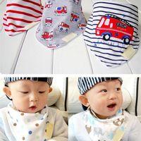 Wholesale 3pcs set Kids Infant Newborn Baby Bandana Bibs Towel Saliva Towel Burp Cloths Cotton Cartoon Animal