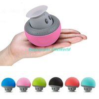 active disc - Portable Mushroom Bluetooth Mini Speaker Wireless Audio Stereo Sound Box Sucking Disc Hands Free For iPhone iPad Computer Laptop