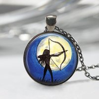 archery art - Archery Necklace Art Pendant Water Color Jewelry