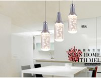 20 ~ 25sq.m CCC 25 Inch & Above LED Pendant lamp Acrylic bulb Bottle shape Modern Suspension Light Fixture hotel foyer Free shipping New Restaurant Dinning Room Bar