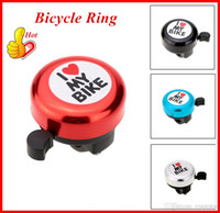 Wholesale Funny Bicycle Bell with I Love you Printing for Outdoor Bike Sports Aluminum Cover Four Colors Bicycle Accessories Alarm Ring OUT047