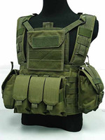 Wholesale New Tactical Airsoft Molle Canteen Hydration Water Bag Combat RRV Hunting Vest Green