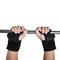 Wholesale 1 Pair Adjustable Fitness Wrist Support Weight Lifting Hooks Sport Training Gym Grips Straps Support Gloves