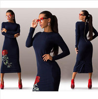 bags cocktail dress - 2016 Spandex Medium And Long Designer Dresses Evening Dress Rose Club Dress Party Cocktail Dress Bag Hip Skirt Slits Evening Gowns