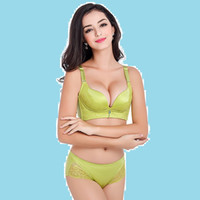 Wholesale The new women s bra sets gather lace bra sets incognito income adjustable underwear manufacturers Four breasted B cup