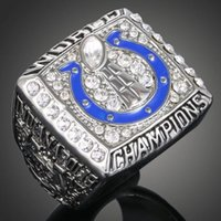 Cheap Free Shipping High Quality Heavy Solid Indianapolis Colt 2006 Super Bowl Championship Ring Sport Fan Best Gift Men Jewelry Wholesale