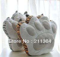 best back pillow - piece tiger paw cushion wild animal pillow Stuffed Back Cushion Seat support Plush Toy best gift high quality