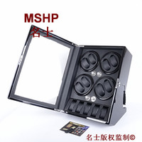 Wholesale LUXURY WOODEN AUTO AUTOMATIC MENS WOMENS WATCH WINDER DISPLAY STORAGE BOX WATCHES BLACK WOODEN BOX