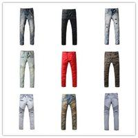 bell bottom pants men - Represent pants Balmai jeans men ankle zipper Balman jeans Motorcycle skinny Balmai ripped overalls men bell bottom jeans men Balmain