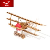Wholesale Creative educational toys d micro metal three dimensional puzzle DIY fokker aircraft of world war ii military assembly model
