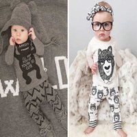baby pants trade - Baby suit small monster explosion and long sleeved pants suit children cartoon mixed cotton suit foreign trade and retail