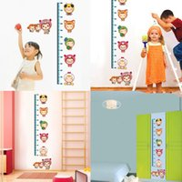 Wholesale Fashion Children Cartoon StickersChildren Kids Room Bedroom WallstickersRemove the height of children posted paste the height of the kinderg