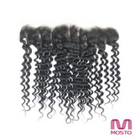 Wholesale Grade A deep Wave Virgin Brazilian Hair Lace Frontal Closure Natural Black B Brazilian human hair Weave Top Closure