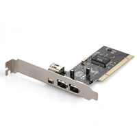 Wholesale 4 Ports Firewire IEEE Pin PCI Card Controller Video Capture Card Adapter for HDD MP3 PDA