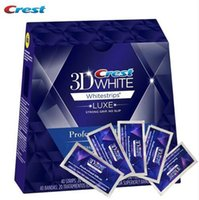 Wholesale 40 Strips Pouch Box Crest D Whitestrips Luxe Professional Effects White Whitening Teeth Strips