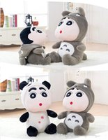 Wholesale Stuffed Panda Model - 2016 New Terrific Fashionable High Quality 30'' 78cm Giant Plush Stuffed Totoro or Panda Nowara Shinnosuke, 2 Models!