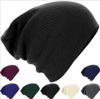 Wholesale 2017 solid fall winter skuulies beanies hot sale beige green knitted hats ice cap unisex hat warm earmuff for men women