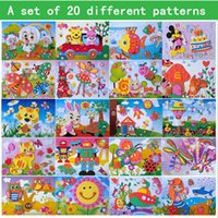 Wholesale A set of different patterns stereo EVA puzzle d kind of puzzle children educational toys gift Baby learning puzzle free shipp