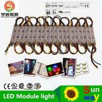 80LM 0.72W 3 LEDs SMD 5050 RGB LED módulos LED Pixel Módulos impermeables a contraluz el Canal 12V Para firman carta de envío gratuito
