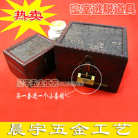 Wholesale Orchid twinset wool vintage storage box props