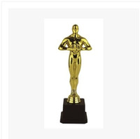 Wholesale Special offer Oscars cm plated plastic trophy Custom Trophies Plating Crafts