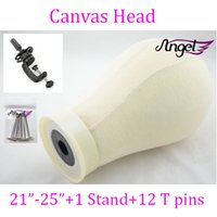 Wholesale quot quot quot quot quot beige Canvas Block Head For Hair Extension lace wigs Making and Display Styling mannequin Manikin Head