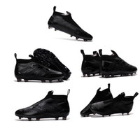 Wholesale New arrivals Ace16 purecontrol black football boots men s high ankle blackout soccer cleats ACE pure control boy youth s soccer shoes