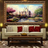 Wholesale 5D DIY Rainbow Castle Full of Diamond Painting Cross Stitch Kits Over drilling Home Decoration