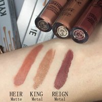 Wholesale kylie jenner lip kit cosmetics maquiagem makeup birthday edition batom liquido mate beverly hills matte brand lips metal KYMAJESTY