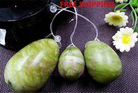 Wholesale natural jade egg for Kegel Exercise set pelvic floor muscles vaginal exercise yoni egg ben wa ball