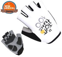 Wholesale Tour De France White Half Finger GEL Pad Cycling Gloves Bike Sports Bike Gloves Breathable Racing Bicycle Moto Cycle Glove