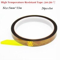Wholesale Free High Temperature Resistant Tape Roll mm m Heat Resistant Adhesive Polyimide Insulation Thermal Tape For BGA