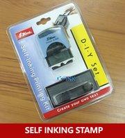 alphabet ink stamps - Business DIY self inking stamp Alphabet office self inking rubber stamp set