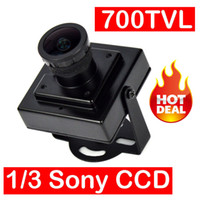 "Cheap 2016 New Mini HD 700TVL 1 3"" Sony CCD 2.1mm Lens CCTV Security FPV Color Home Security Camera Free Shipping"