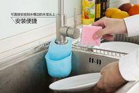Wholesale Creative sink Basket snap shelf kitchen sink sponge pouch hanging multi draining rack factory