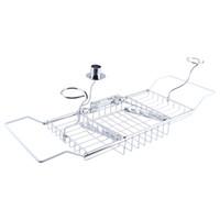 bathtub caddy - 1Pcs Bathroom Bath Shower Tub Bathtub Caddy Storage Organizer Holder Soap Red Wine Rack Holder