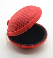 Wholesale 1PCS Round Shape Earphone Carrying Bag Case Protector Hard Bag Portable