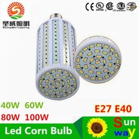 ac pendants - 2015 Super Bright W W W W Led Bulbs E27 E40 SMD Led Corn Lights Angle Led Pendant Lighting AC V