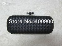 Wholesale Knot Clutches Genuine Leather Black With Gun Metal Sheepskin L Designer Fashion Accessories