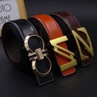 beaded belt men - Fashion brand Mens leather Belts new Designer Waist Alloy smooth Buckle Belts for men styles High Quality