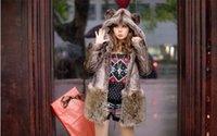 Veste de fourrure de fourrure d'hiver pour les femmes Véritable véritable tricot de fourrure de fourrure de visière manteaux avec capuchon Hoodies taille plus YY87